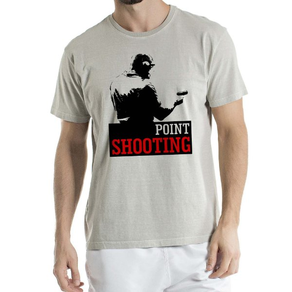 Camisa Estonada Point Shooting Humberto Wendling Cinza