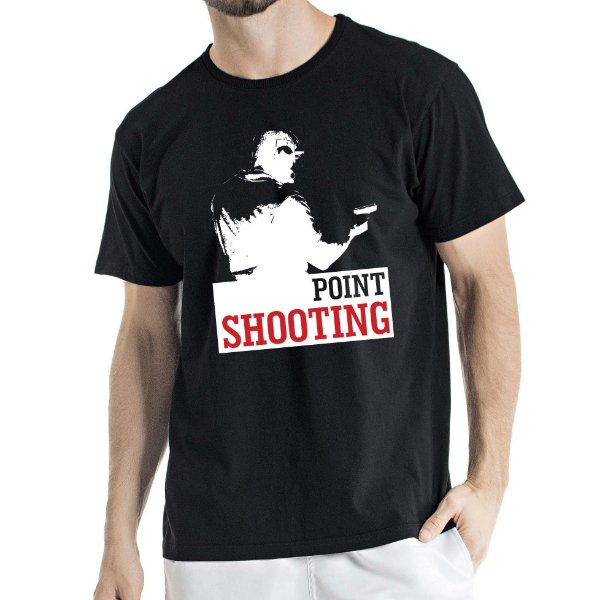 Camisa Estonada Point Shooting Humberto Wendling preta