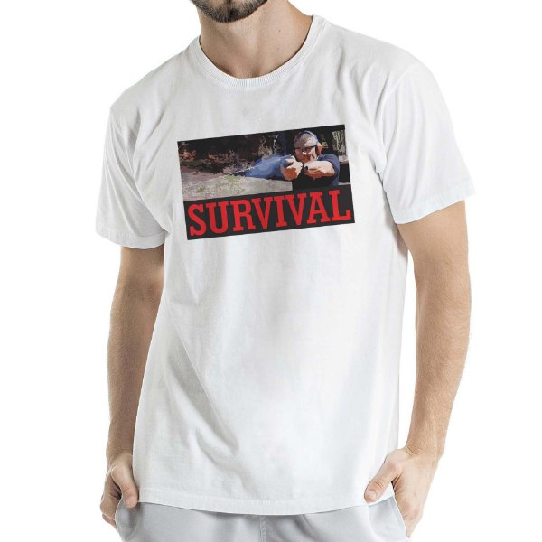 Camisa Estonada Survival Humberto Wendling Branca