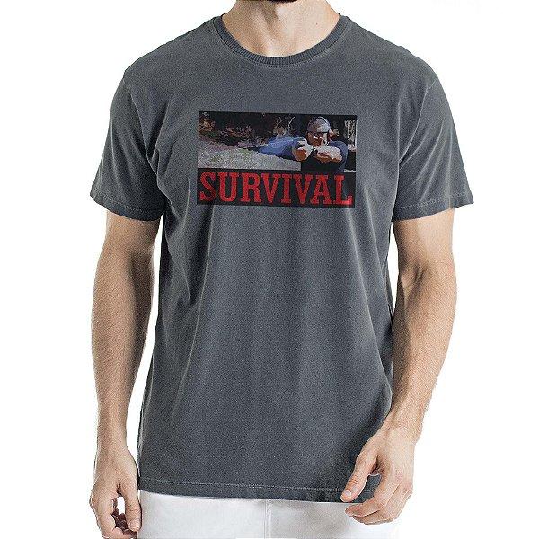 Camisa Estonada Survival Humberto Wendling Chumbo