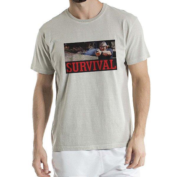 Camisa Estonada Survival Humberto Wendling Cinza
