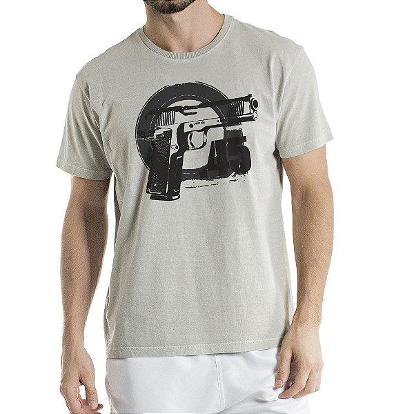 Camisa Estonada 45 Motivos Cinza