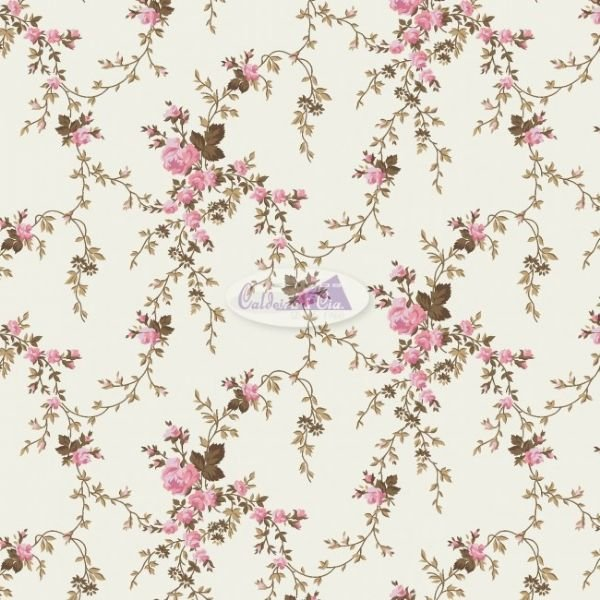 Tecido Floral Sarah Rosê
