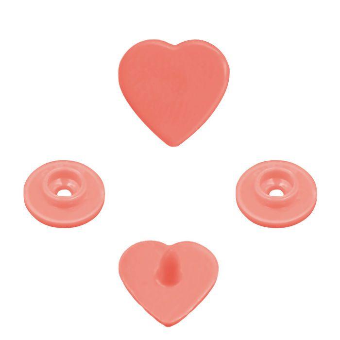 Botão Rita Coração cor Pêssego (Tam. 10)