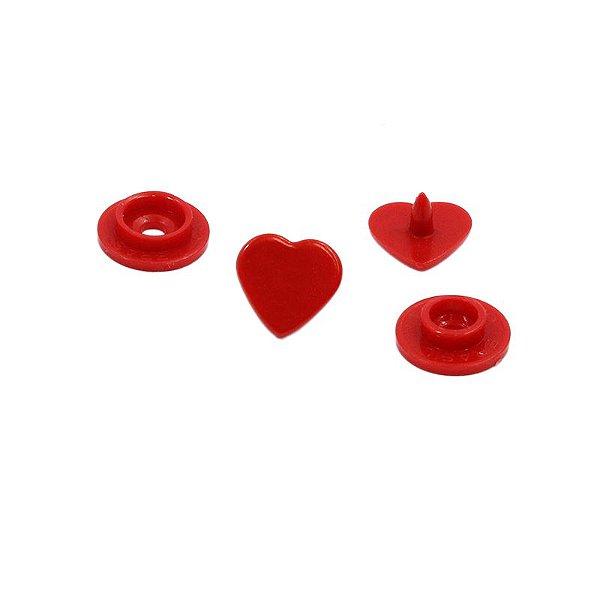 Botão Rita Coração cor Vermelho (Tam. 10)