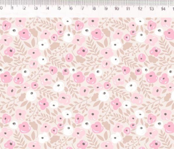 Tecido Floral rosa ES022C02