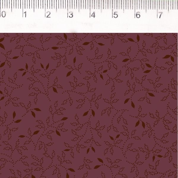 Tecido Folhinhas Vermelho MV029C03