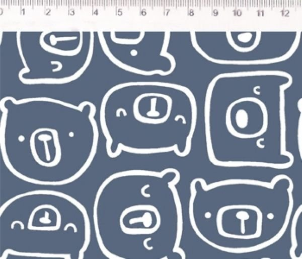 Tecido Urso azul ES024C01