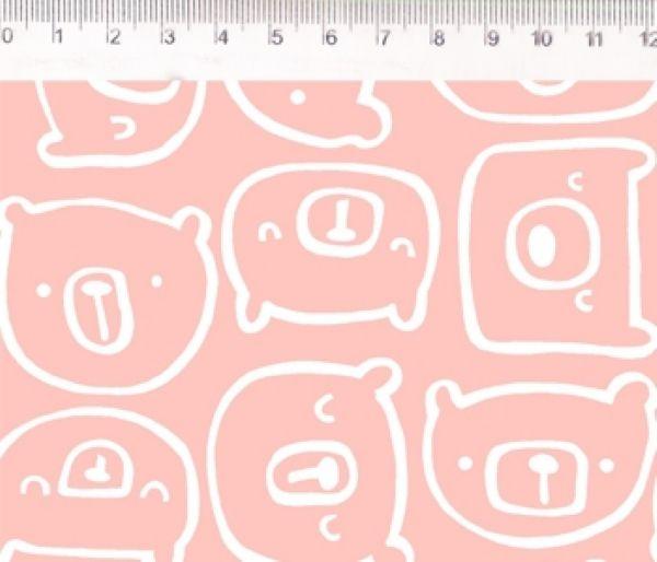 Tecido Urso pêssego ES024C04
