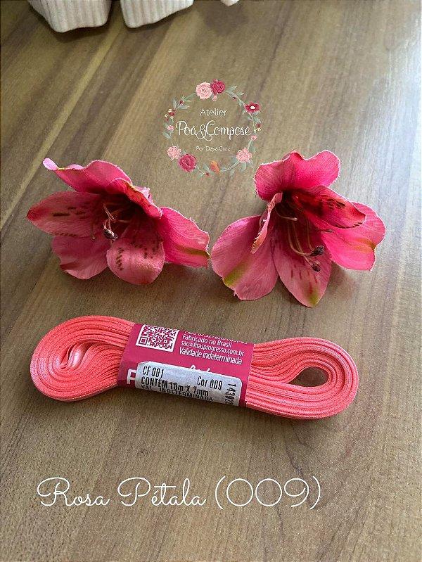 Fita de Cetim 7 mm Rosa Pétala (009)