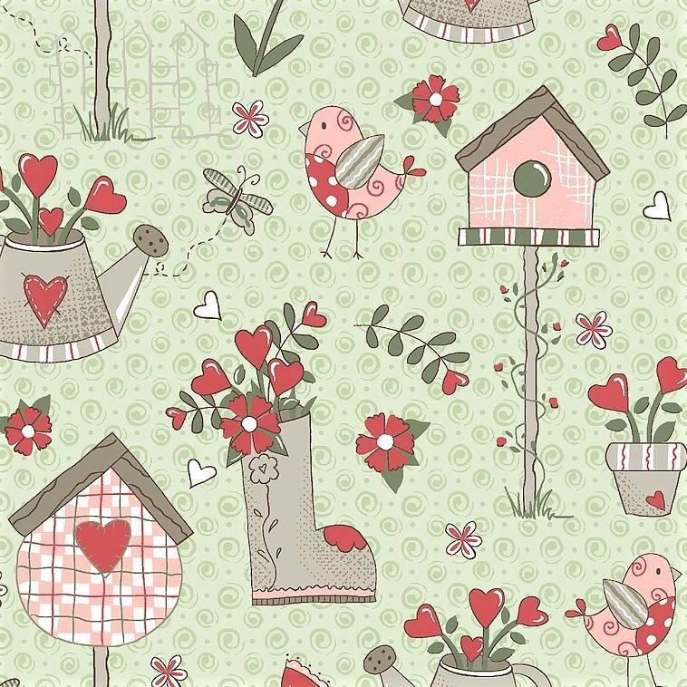 Tecido Garden Menta RT327