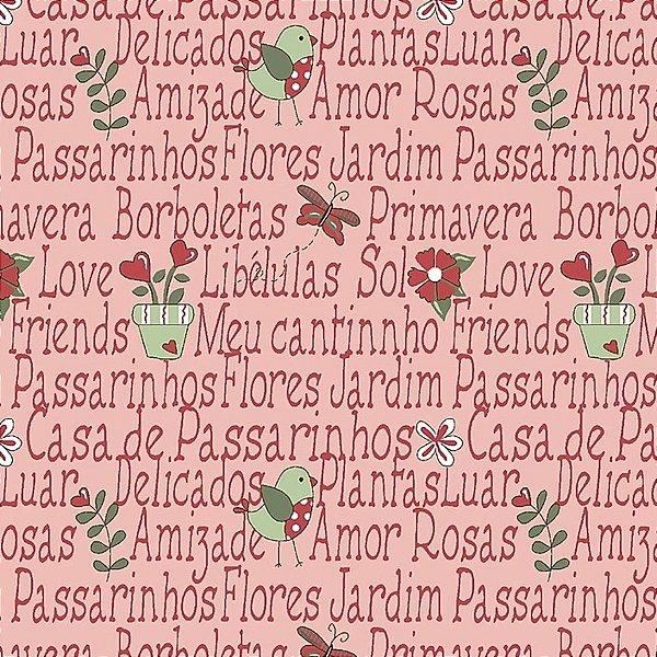 Tecido Mini Garden Rosa RT328