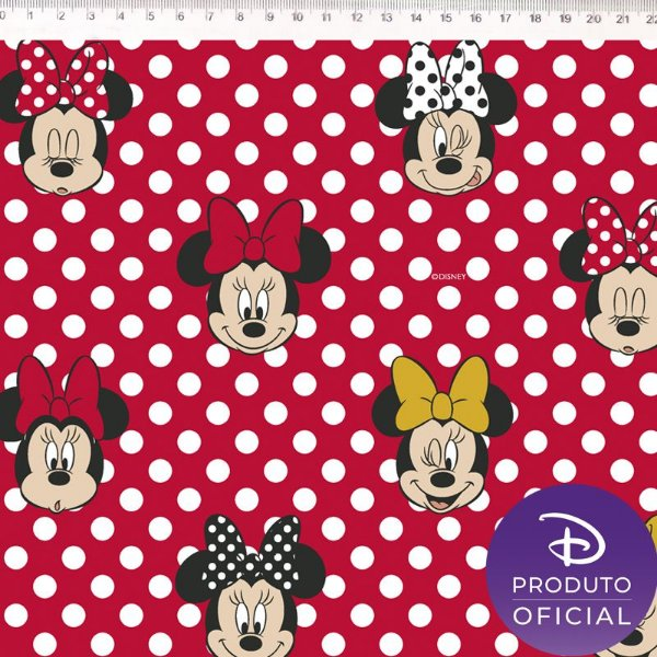 Tecido Minnie Mouse MI003C01