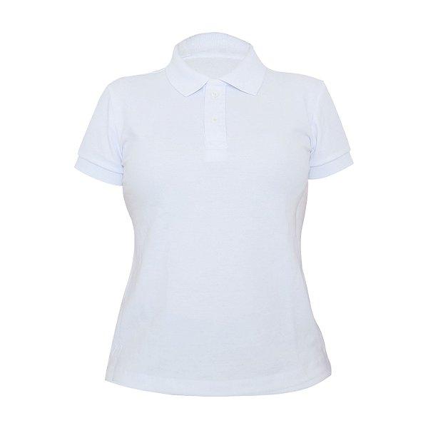 Kit 10 peças - Camiseta Polo Piquet Branca Feminina