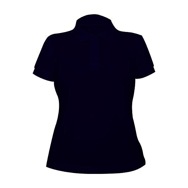Kit 10 peças - Camiseta Polo Piquet Marinho Feminina
