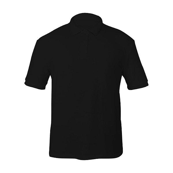 Kit 10 peças - Camiseta Polo Piquet Preta Masculina