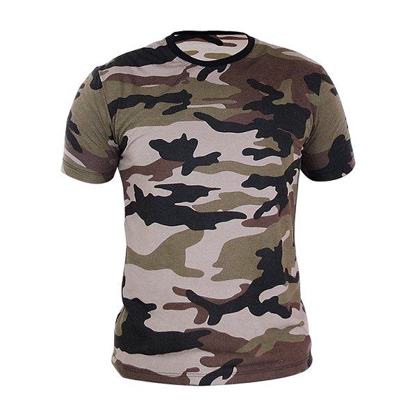 Kit 10 peças - Camiseta PV (malha fria) Camuflada Marrom Masculina