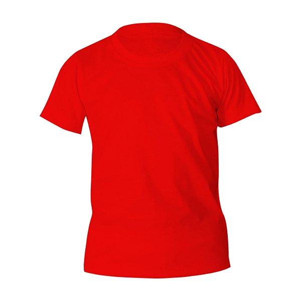 Kit 10 peças - Camiseta PV (Malha Fria) Vermelha Infantil