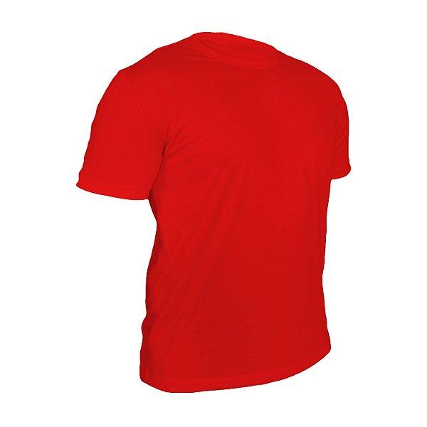 Kit 10 peças - Camiseta Poliéster Anti Pilling Vermelha Masculina