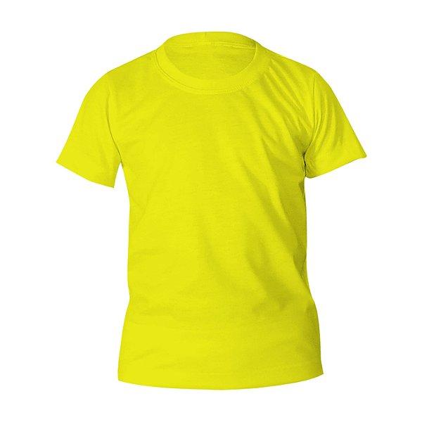 Kit 10 peças - Camiseta Poliéster Anti Pilling Canário Infantil