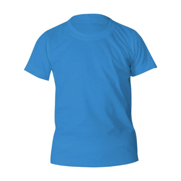 Kit 10 peças - Camiseta Poliéster Anti Pilling Celeste Infantil