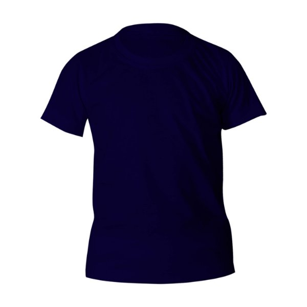 Kit 10 peças - Camiseta Poliéster Anti Pilling Marinho Infantil