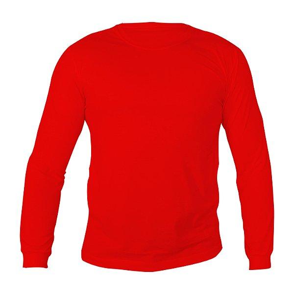Kit 10 peças - Camiseta Manga Longa PV (Malha Fria) Vermelha Masculina