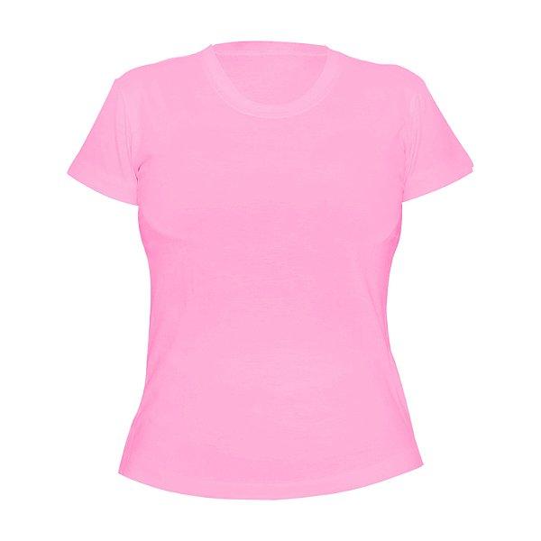Kit 10 peças - Camiseta Poliéster Anti Pilling Rosa Bebê Feminina