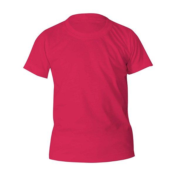 Kit 10 peças - Camiseta Poliéster Anti Pilling Rosa Pink Infantil