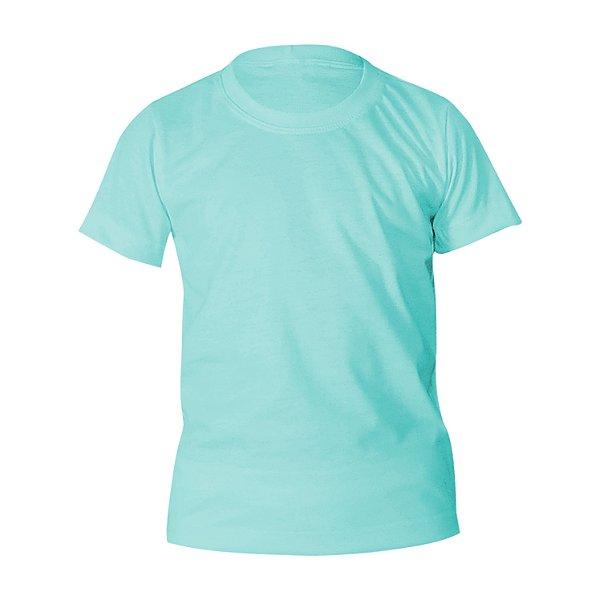 Kit 10 peças - Camiseta Poliéster Anti Pilling Azul Piscina Infantil
