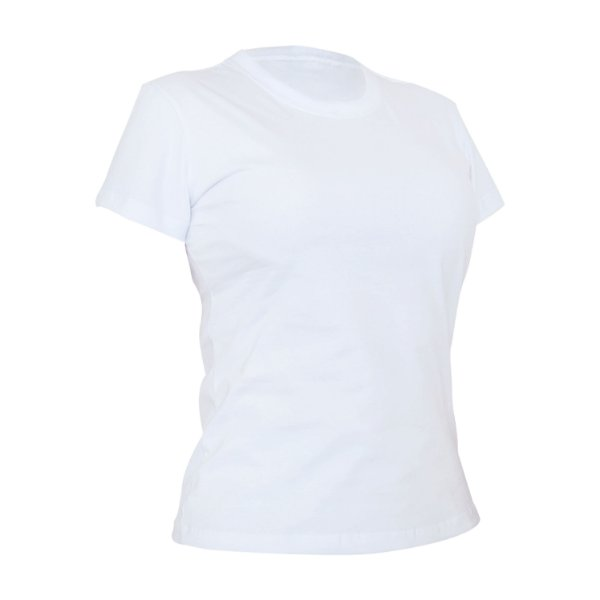 Camiseta Algodão Branca Feminina