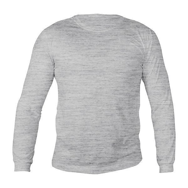 Camiseta Manga Longa Poliéster Mescla Masculina
