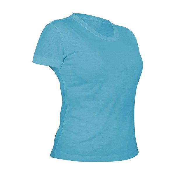 Camiseta Poliéster Anti Pilling Azul Bebê Feminina