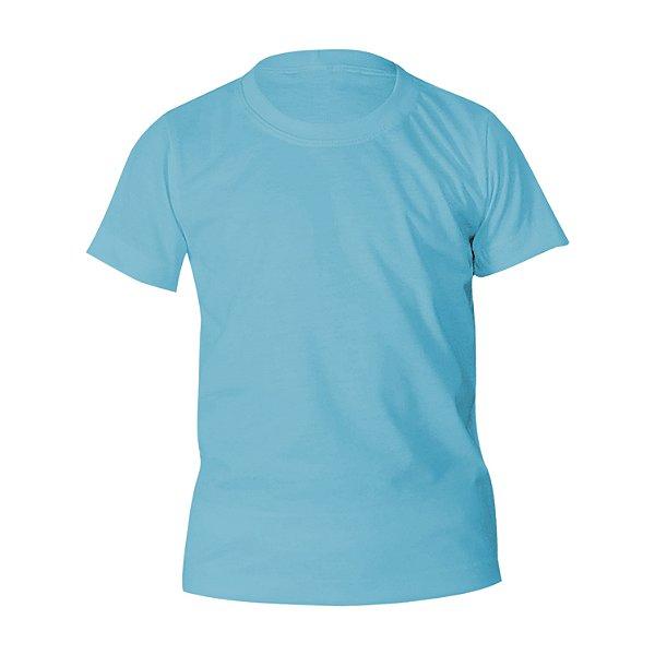 Camiseta Poliéster Anti Pilling Azul Bebê Infantil