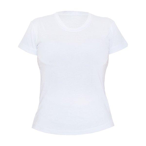 Camiseta Poliéster Anti Pilling Branca Feminina