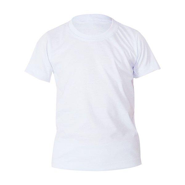 Camiseta Poliéster Anti Pilling Branca Infantil