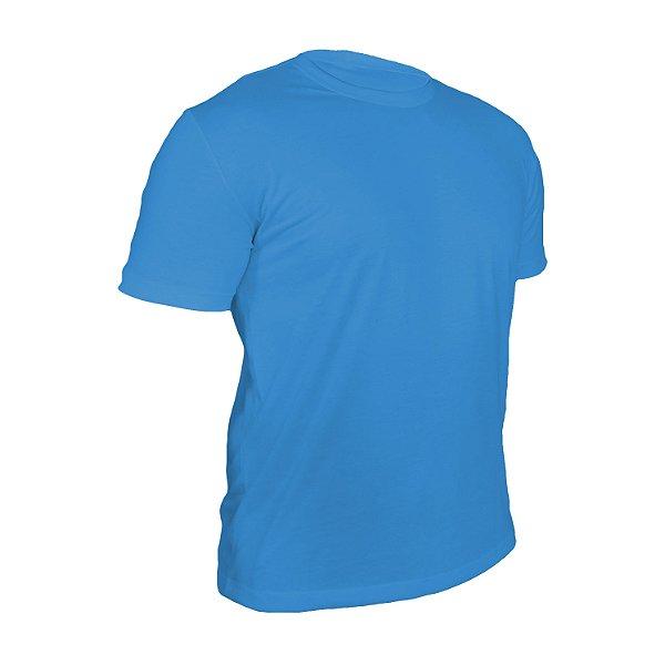 Camiseta Poliéster Anti Pilling Celeste Masculina
