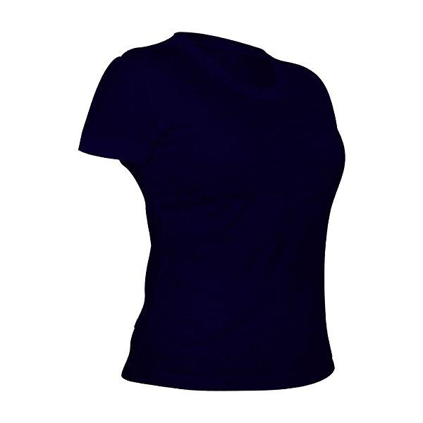 Camiseta Poliéster Anti Pilling Marinho Feminina