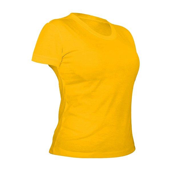 Camiseta Poliéster Anti Pilling Ouro Feminina