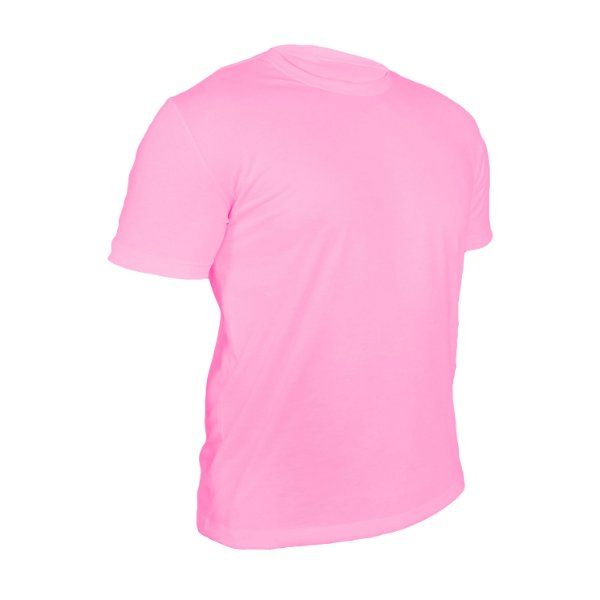 Camiseta Poliéster Anti Pilling Rosa Bebê Masculina