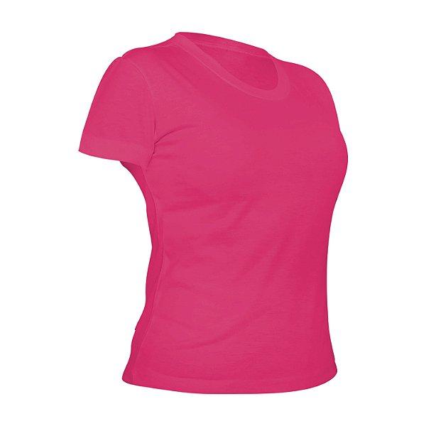 Camiseta Poliéster Anti Pilling Rosa Pink Feminina