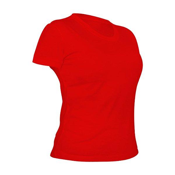 Camiseta Poliéster Anti Pilling Vermelha Feminina