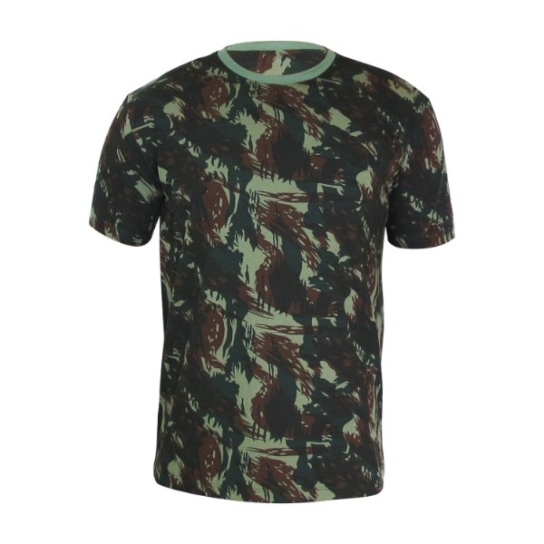 Camiseta PV (malha fria) Camuflada Verde Masculina