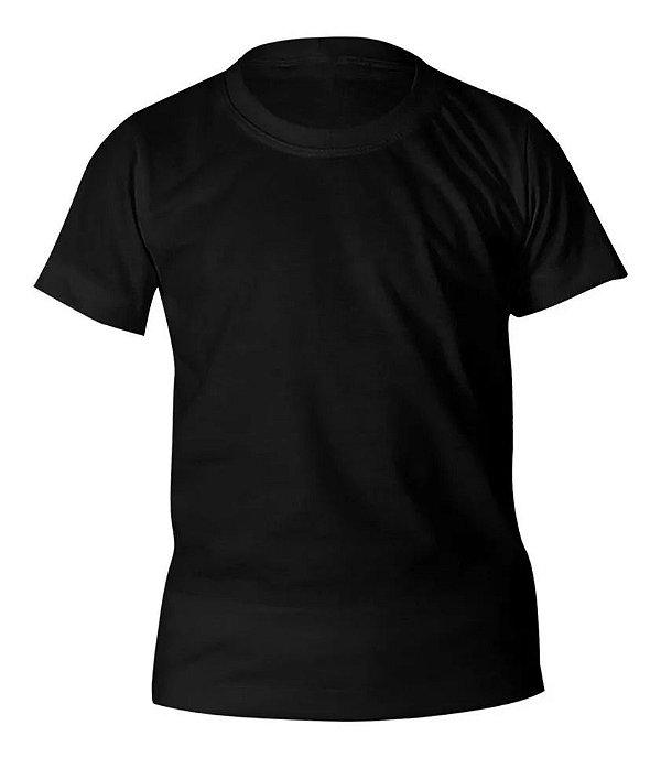 Camiseta Algodão Preta Infantil