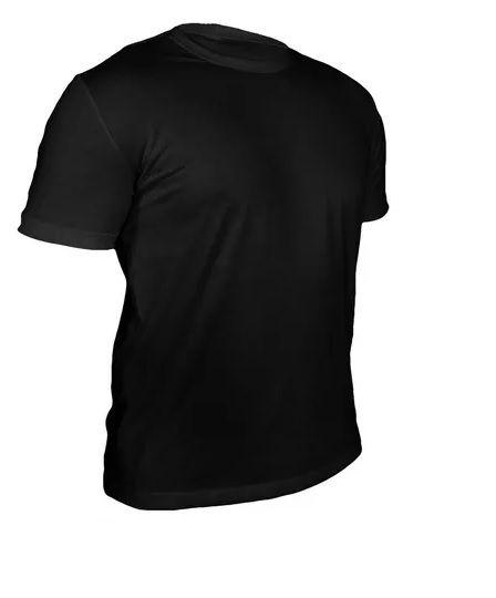 Camiseta Algodão Preta Masculina