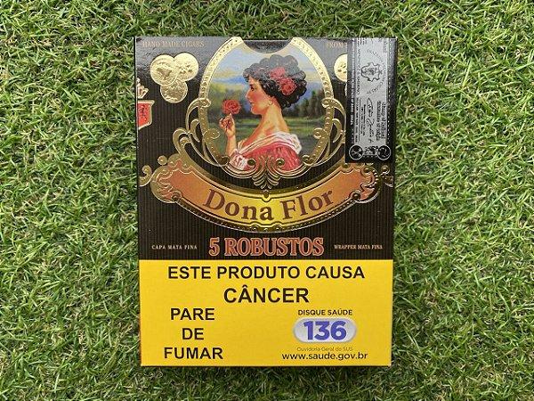 Charuto Dona Flor Capa Mata Fina Robusto - Petaca com 5