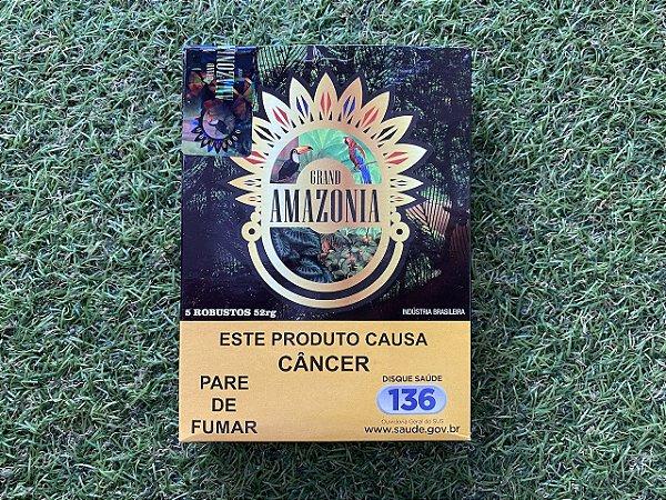 Charuto Brasileiro Grand Amazonia Robusto - Petaca Com 5