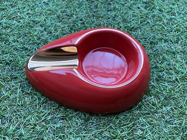 Cinzeiro Para Charutos em Cerâmica - Red&Gold