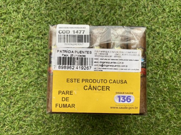 Charuto Diogenes Puentes Premium Patricias (Ring 52) - Maço com 25