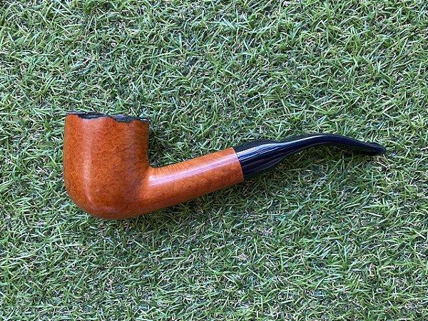 Cachimbo Maestro Briar Semi Bent - Pot Rustic COD83